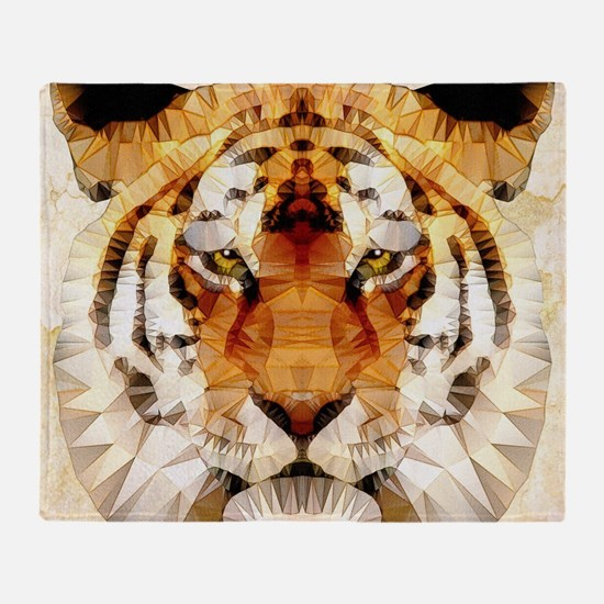 Cool Lion and tiger Throw Blanket