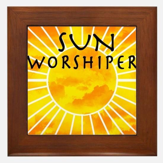 sun worship.png Framed Tile
