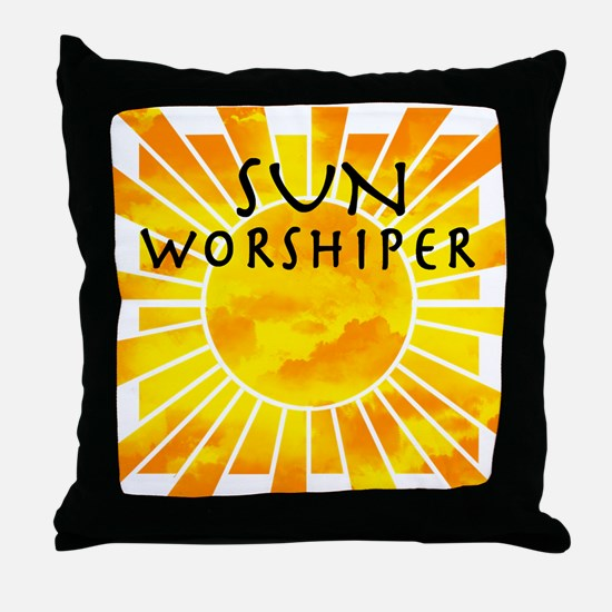 sun worship.png Throw Pillow