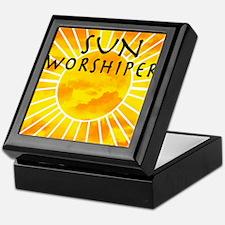 sun worship.png Keepsake Box