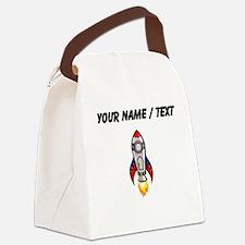 Custom Rocket Ship Canvas Lunch Bag