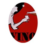 Vino Vintage Lady Ornament (Oval)