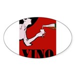 Vino Vintage Lady Sticker