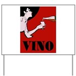 Vino Vintage Lady Yard Sign