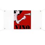 Vino Vintage Lady Banner