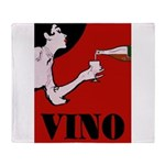 Vino Vintage Lady Throw Blanket