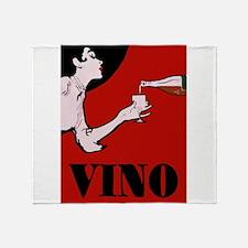 Vino Vintage Lady Throw Blanket