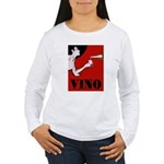 Vino Vintage Lady Long Sleeve T-Shirt