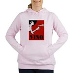 Vino Vintage Lady Women's Hooded Sweatshirt