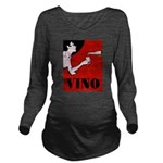 Vino Vintage Lady Long Sleeve Maternity T-Shirt
