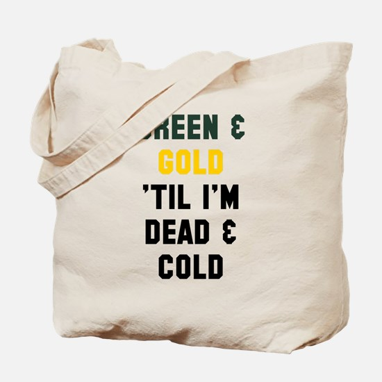 Green Gold Tote Bag