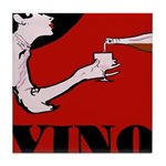 Vino Vintage Lady Tile Coaster