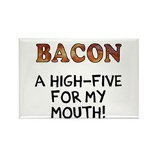 Bacon high five Magnets