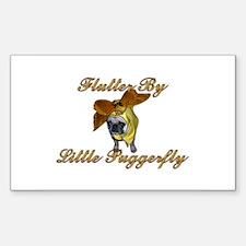 Puggerfly Sticker (Rect.)