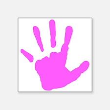 Pink Handprint Sticker