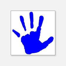 Blue Handprint Sticker