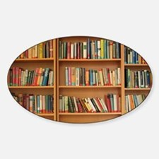 Unique Bookshelf Sticker (Oval)