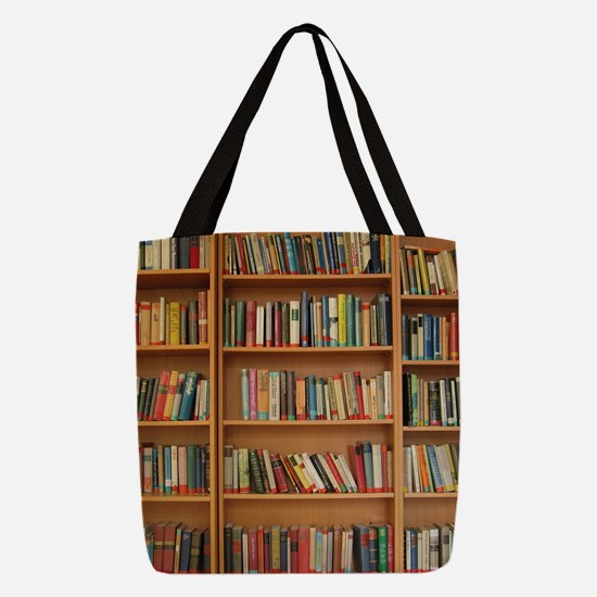 Cute Library Polyester Tote Bag