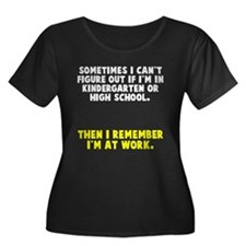At work Plus Size T-Shirt