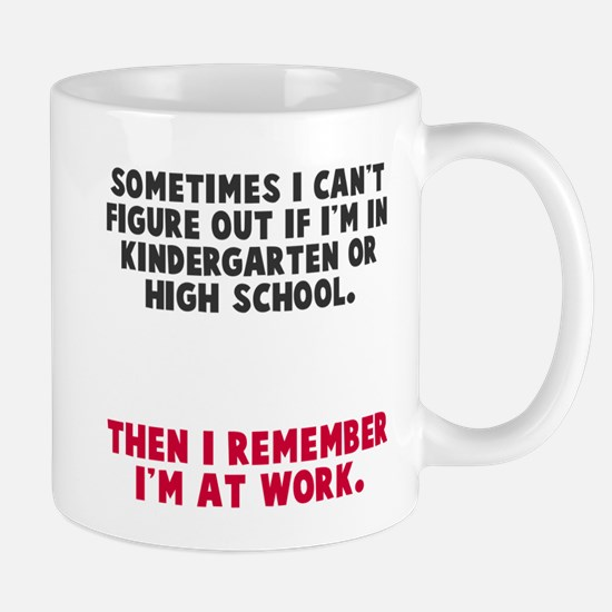 At work Mugs