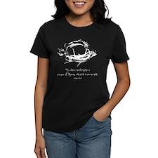Crown of Thorns Women's Black T-Shirt