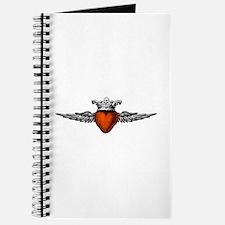 Crown Flying Heart Journal