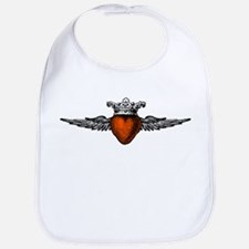 Crown Flying Heart Bib