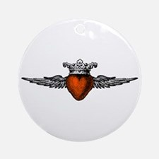 Crown Flying Heart Ornament (Round)