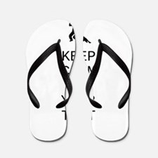 Keep Calm Dance Couple - Customize Flip Flops
