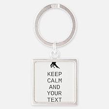 Keep Calm Dance Couple - Customize Keychains