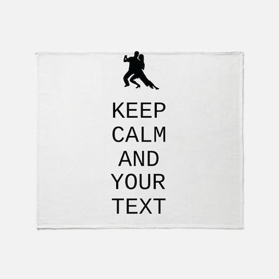 Keep Calm Dance Couple - Customize Throw Blanket