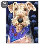 Airedale Terrier Dog Ocean Blue Puzzle