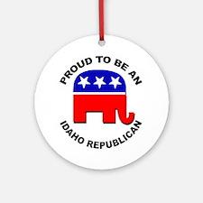 Proud Idaho Republican Ornament (Round)