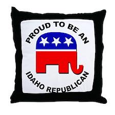 Proud Idaho Republican Throw Pillow