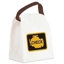 Check Engine Light Canvas Lunch Bag