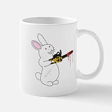 Bunny With Chainsaw Mugs