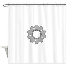 Simple Gear Shower Curtain