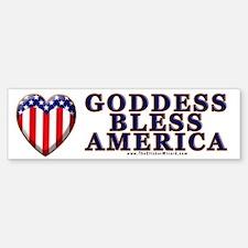 Goddess Bless America Bumper Bumper Bumper Sticker