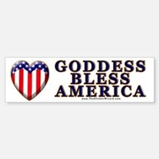 Goddess Bless America Bumper Car Car Sticker