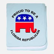 Proud Florida Republican baby blanket