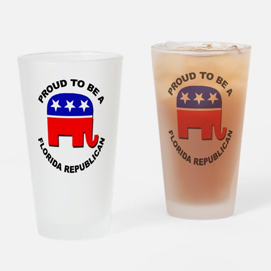 Proud Florida Republican Drinking Glass