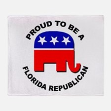 Proud Florida Republican Throw Blanket
