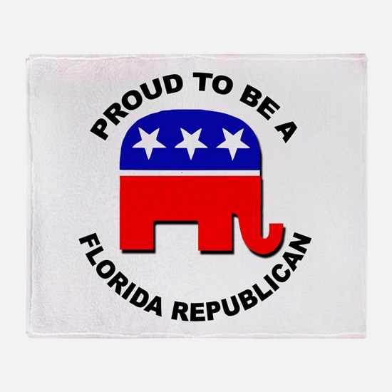 Proud Florida Republican Throw Blanket