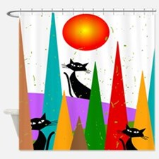 Whimsical Cats Shower Curtain