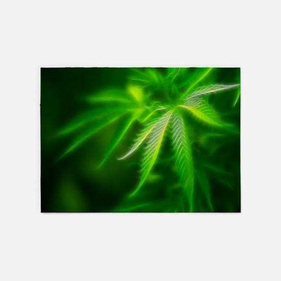 Green Dream 5'x7'Area Rug
