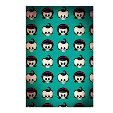 Rockabilly Skulls Pattern Postcards (Package of 8)