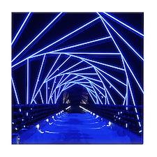 High Trestle Trail Bridge At Night Tile Coaster