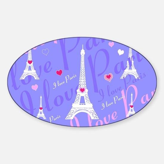 Girly I LOVE PARIS Decal