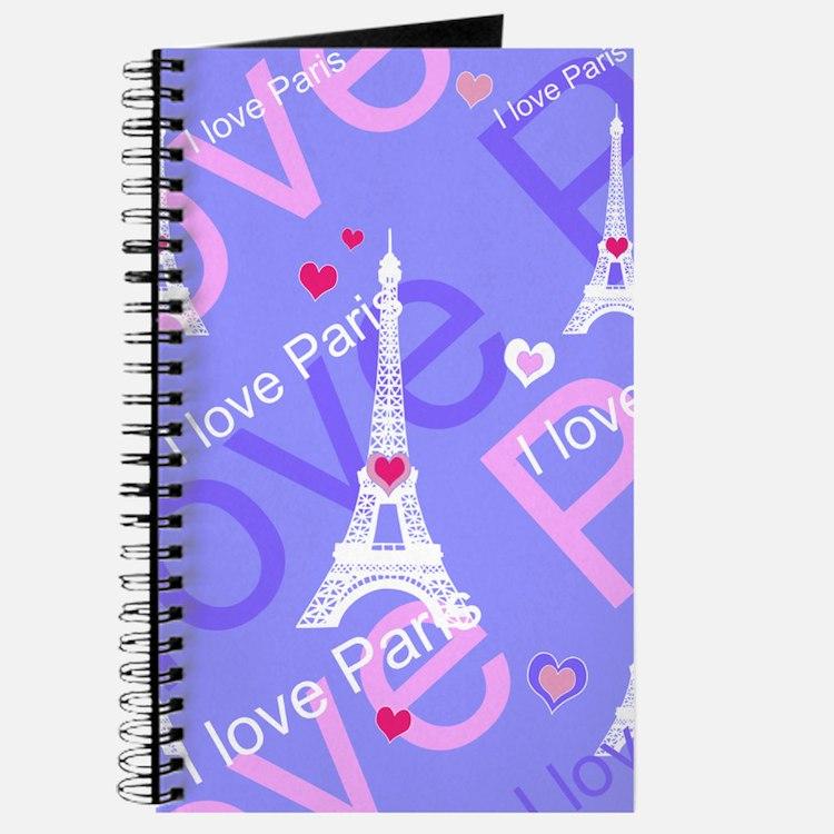 Girly I LOVE PARIS Journal