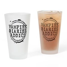 Vampire Diaries Addict Drinking Glass